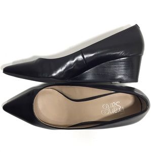 Franco Sarto Wedge Heels in Black Iliza Sz 9.5